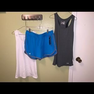 Under Armour Bundle Tanks and Shorts